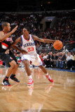 Portland Trail Blazers v Philadelphia 76ers: Louis Williams and Andre Miller