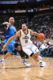 Dallas Mavericks v Utah Jazz: Deron Williams and Shawn Marion