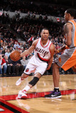 Phoenix Suns v Portland Trail Blazers: Channing Frye and Brandon Roy