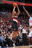 Portland Trail Blazers v Philadelphia 76ers: Andre Miller and Louis Williams