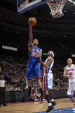 New York Knicks v Detroit Pistons: Wilson Chandler and Richard Hamilton
