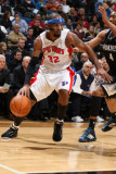 Detroit Pistons v Minnesota Timberwolves: Richard Hamilton and Wesley Johnson