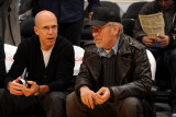 Washington Wizards v Los Angeles Lakers: Jeffrey Katzenberg and Steven Spielberg