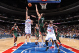 Milwaukee Bucks v Philadelphia 76ers: Spencer Hawes and Andrew Bogut