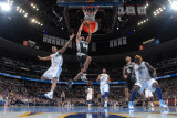 San Antonio Spurs v Denver Nuggets: Richard Jefferson and Aaron Afflalo