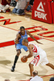 Oklahoma City Thunder v Houston Rockets: Shane Battier and Kevin Durant