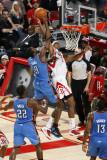 Oklahoma City Thunder v Houston Rockets: Serge Ibaka and Jordan Hill