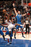 Orlando Magic v Los Angeles Clippers: Marcin Gortat and Baron Davis