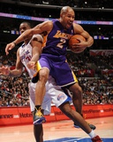 Los Angeles Lakers v Los Angeles Clippers: Derek Fisher and Jarron Collins