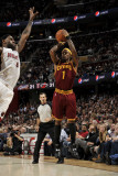 Miami Heat v Cleveland Cavaliers: Daniel Gibson and LeBron James