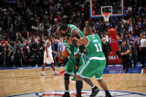 Boston Celtics v Philadelphia 76ers: Kevin Garnett  Nate Robinson and Glen Davis
