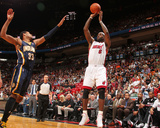 Indiana Pacers v Miami Heat: LeBron James and Danny Granger