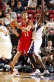 New Jersey Nets v Sacramento Kings: Brook Lopez and Samuel Dalembert