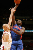 Detroit Pistons v Miami Heat: Jason Maxiell and Zydrunas Ilguskas