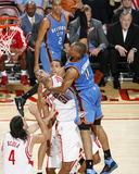 Oklahoma City Thunder v Houston Rockets: Russell Westbrook and Shane Battier