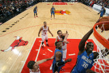 Orlando Magic v Chicago Bulls: Brandon Bass  Dwight Howard  Joakim Noah and Kyle Korver