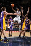Los Angeles Lakers v New Jersey Nets: Terrence Williams and Ron Artest