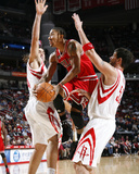 Chicago Bulls v Houston Rockets: Derrick Rose  Brad Miller and Luis Scola