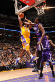 Sacramento Kings v Los Angeles Lakers: Kobe Bryant and Samuel Dalembert