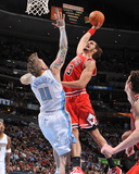 Chicago Bulls v Denver Nuggets: Joakim Noah and Chris Andersen