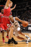 Chicago Bulls v San Antonio Spurs: Tony Parker and Brian Scalabrine