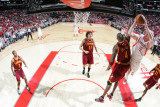 Cleveland Cavaliers v Houston Rockets: Antawn Jamison and Chase Budinger