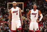 Phoenix Suns v Miami Heat: LeBron James and Dwyane Wade