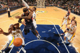 Atlanta Hawks v Indiana Pacers: Josh Smith  James Posey and Roy Hibbert