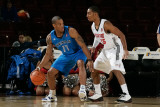 Texas Legends v Idaho Stampede: Antonio Daniels and Lance Hurdle