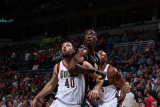Indiana Pacers v Milwaukee Bucks: Roy Hibbert  Jon Brockman and Corey Maggette