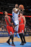 Chicago Bulls v Denver Nuggets: James Johnson  Gary Forbes and Kyle Korver