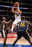 Utah Jazz v Los Angeles Clippers: Blake Griffin  Raja Bell and Francisco Elson