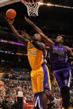 Sacramento Kings v Los Angeles Lakers: Derrick Caracter and Samuel Dalembert