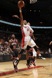 Chicago Bulls v Toronto Raptors: Leandro Barbosa and Taj Gibson