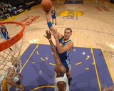 Golden State Warriors v Los Angeles Lakers: Andris Biedrins and Lamar Odom