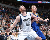Golden State Warriors v Minnesota Timberwolves: Kevin Love and David Lee