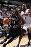 Detroit Pistons v Minnesota Timberwolves: Corey Brewer and Tracy McGrady