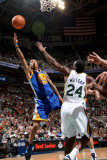 Golden State Warriors v Utah Jazz: Monta Ellis and Paul Millsap