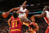 Cleveland Cavaliers v Miami Heat: Dwyane Wade and JJ Hickson