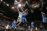 Oklahoma City Thunder v Minnesota Timberwolves: Kevin Love and Nenad Krstic