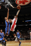 Oklahoma City Thunder v Toronto Raptors: Nenad Kristic and Leandro Barbosa