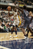 Charlotte Bobcats v Indiana Pacers: Roy Hibbert and Kwame Brown
