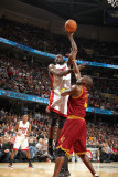 Miami Heat v Cleveland Cavaliers: Joel Anthony and Antawn Jamison