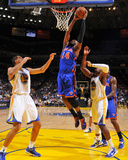 New York Knicks v Golden State Warriors: Ronny Turiaf and Andris Biedrins