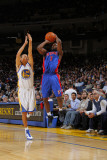 Detroit Pistons v Golden State Warriors: Stephen Curry and Ben Gordon