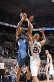 Minnesota Timberwolves v San Antonio Spurs: Michael Beasley and Richard Jefferson