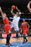 Chicago Bulls v Denver Nuggets: JR Smith and Kyle Korver