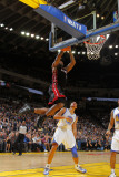 Miami Heat v Golden State Warriors: Lebron James and Dan Gadzuric