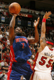 Detroit Pistons v Miami Heat: Ben Gordon and Eddie House