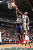 Indiana Pacers v Utah Jazz: Raja Bell and Darren Collison